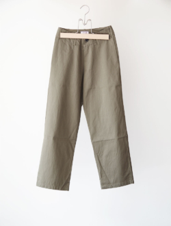 cotton gaberdine pants  khaki