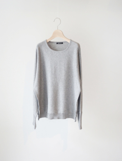 "cotton cashmere knit P/O ""Lino"" grey"