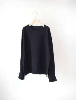 "cotton cashmere knit P/O ""Lino"" black"