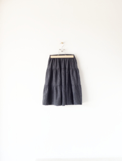 tiered skirt  grey