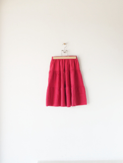 tiered skirt  red