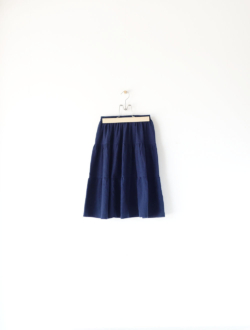 tiered skirt  navy