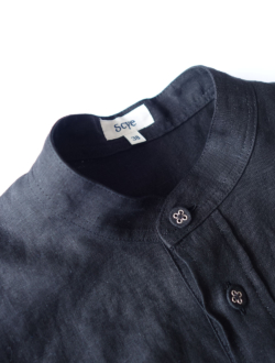 Scye | linen tuck blouse  black
