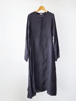 YAECA | button dress  logwood