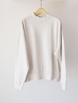 LENO | mock neck long tee  ivory