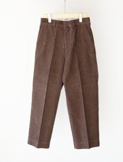 "chino cloth pants ""CREASED"" corduroy  brown のサムネイル"