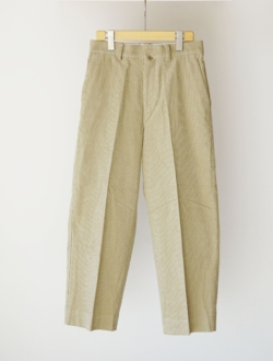 "chino cloth pants ""CREASED"" corduroy  khaki のサムネイル"