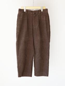 "chino cloth pants ""TUCK STRAIGHT"" corduroy  brown のサムネイル"
