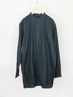 band collar shirt green