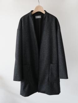 coat (unisex) 裏地付 charcoalgrayのサムネイル
